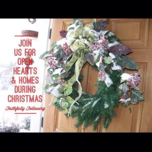 Welcome! Come in and see our hearts and homes this Christmas season.