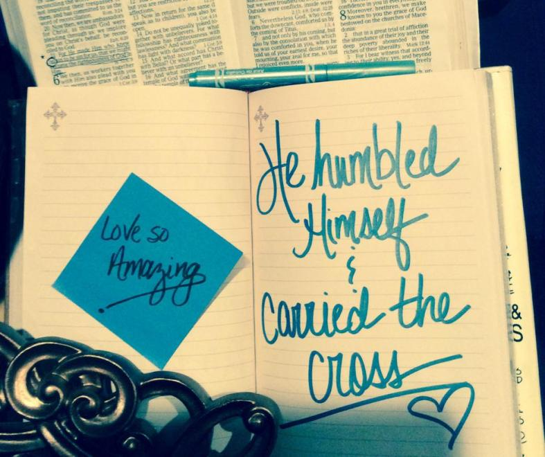 He became sin  Who knew no sin  That we might become His righteousness  He humbled Himself and carried the cross  Love so amazing  Love so amazing Chris Tomlin~ Jesus Messiah